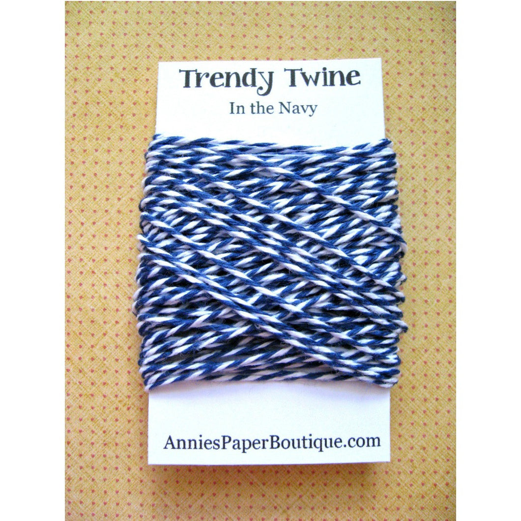 In the Navy Trendy Bakers Twine Mini - Navy Blue & White