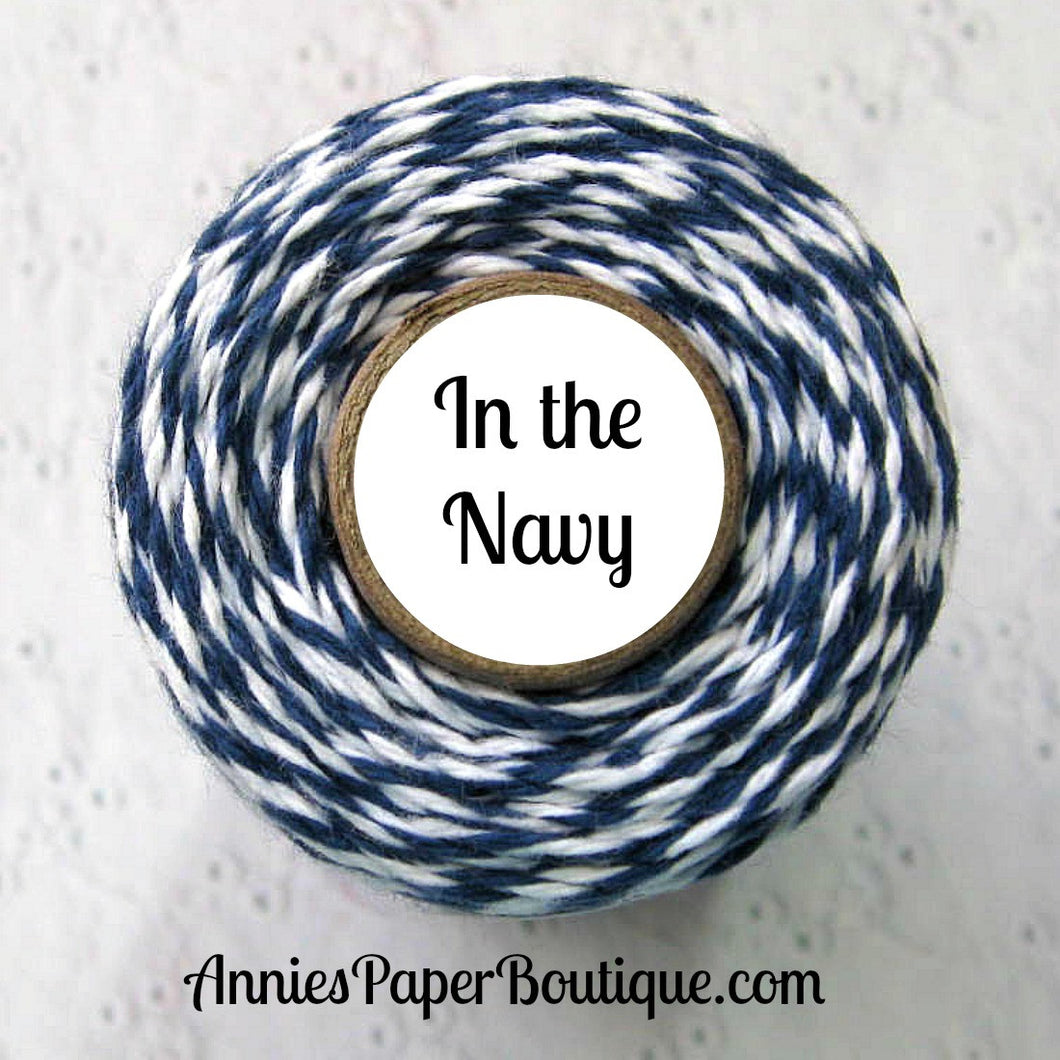 In the Navy Trendy Bakers Twine - Navy Blue & White