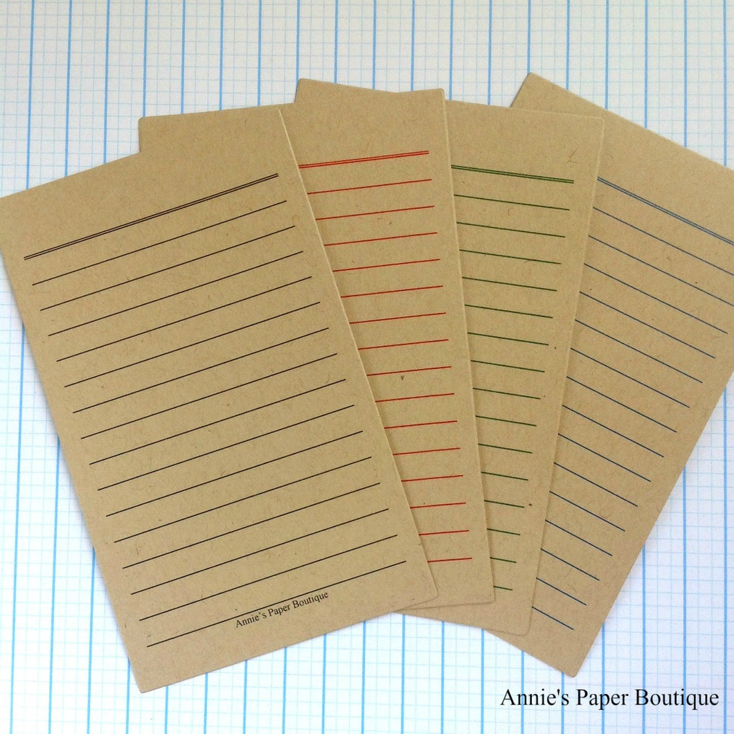 Kraft 3x5 Journaling Cards