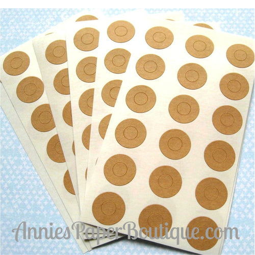 Kraft Brown Reinforcement Stickers
