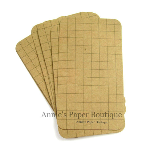 Grid Kraft Journaling Cards