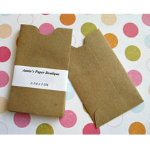 "Mini Kraft Sleeves - 2-1/4"" x 3-5/8"" - Brown Paper Pockets"