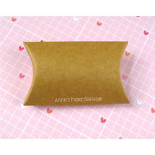 "Small Kraft Pillow Boxes - 2"" x 3/4"" x 3"""