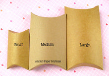 "Medium Kraft Pillow Boxes - 3"" x 1"" x 4"""