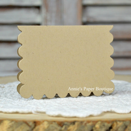 Kraft Scallop Note Card