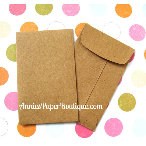 Kraft Coin Envelopes - Tan, Light Brown, Grocery Bag
