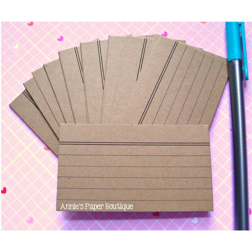 Mini Index Cards - Kraft Brown