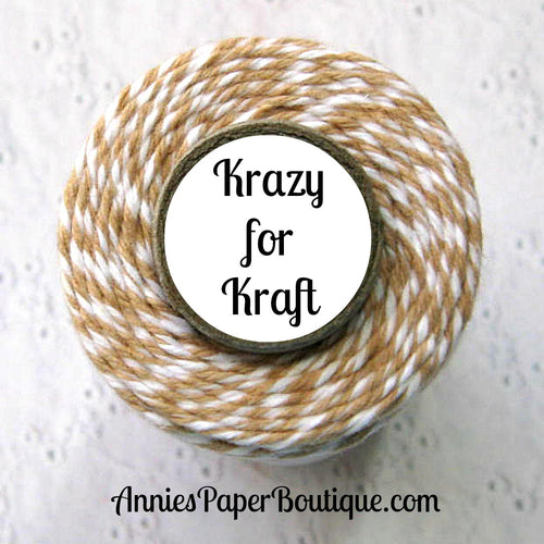 Tan and White Trendy Bakers Twine
