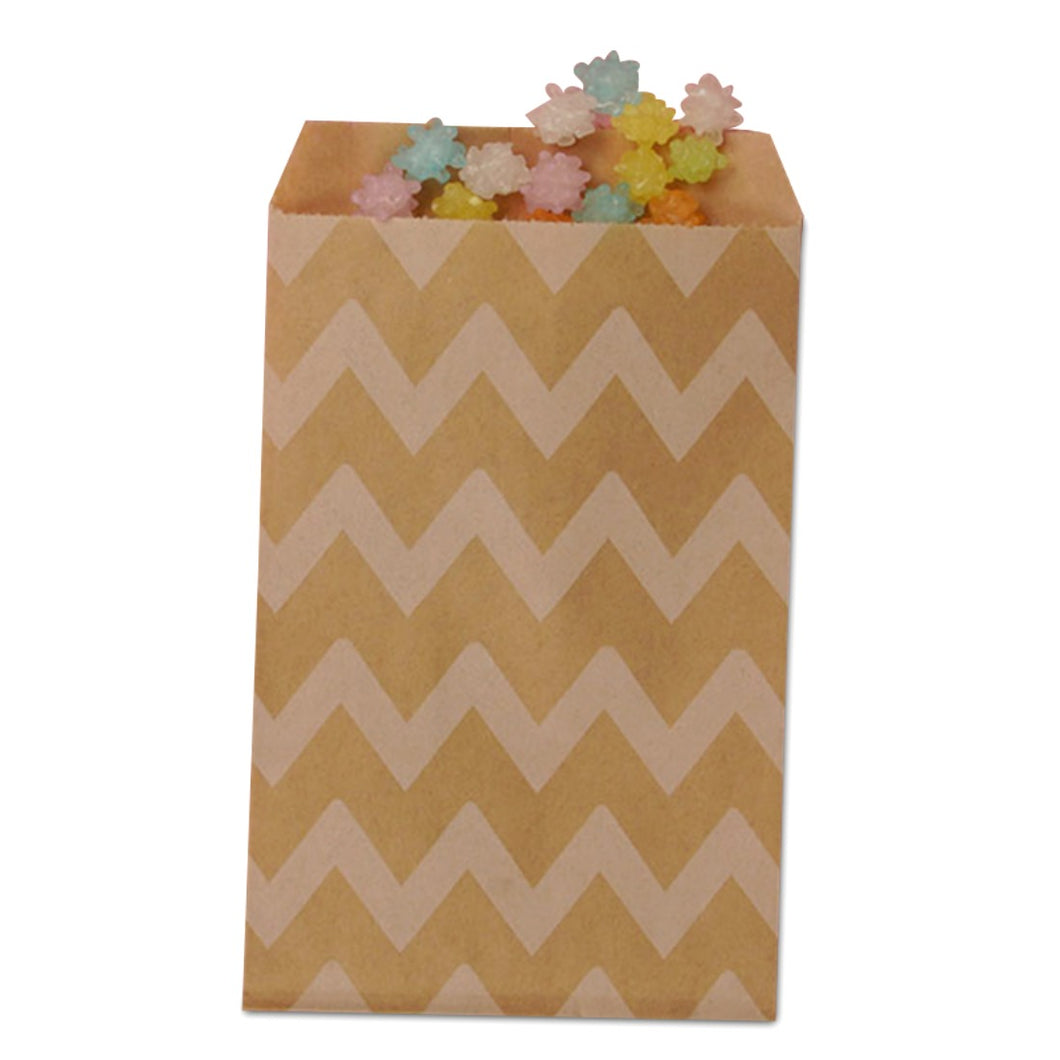Kraft Chevron Treat Bag