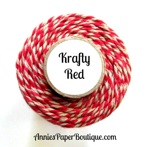 Red and Kraft Brown Trendy Bakers Twine