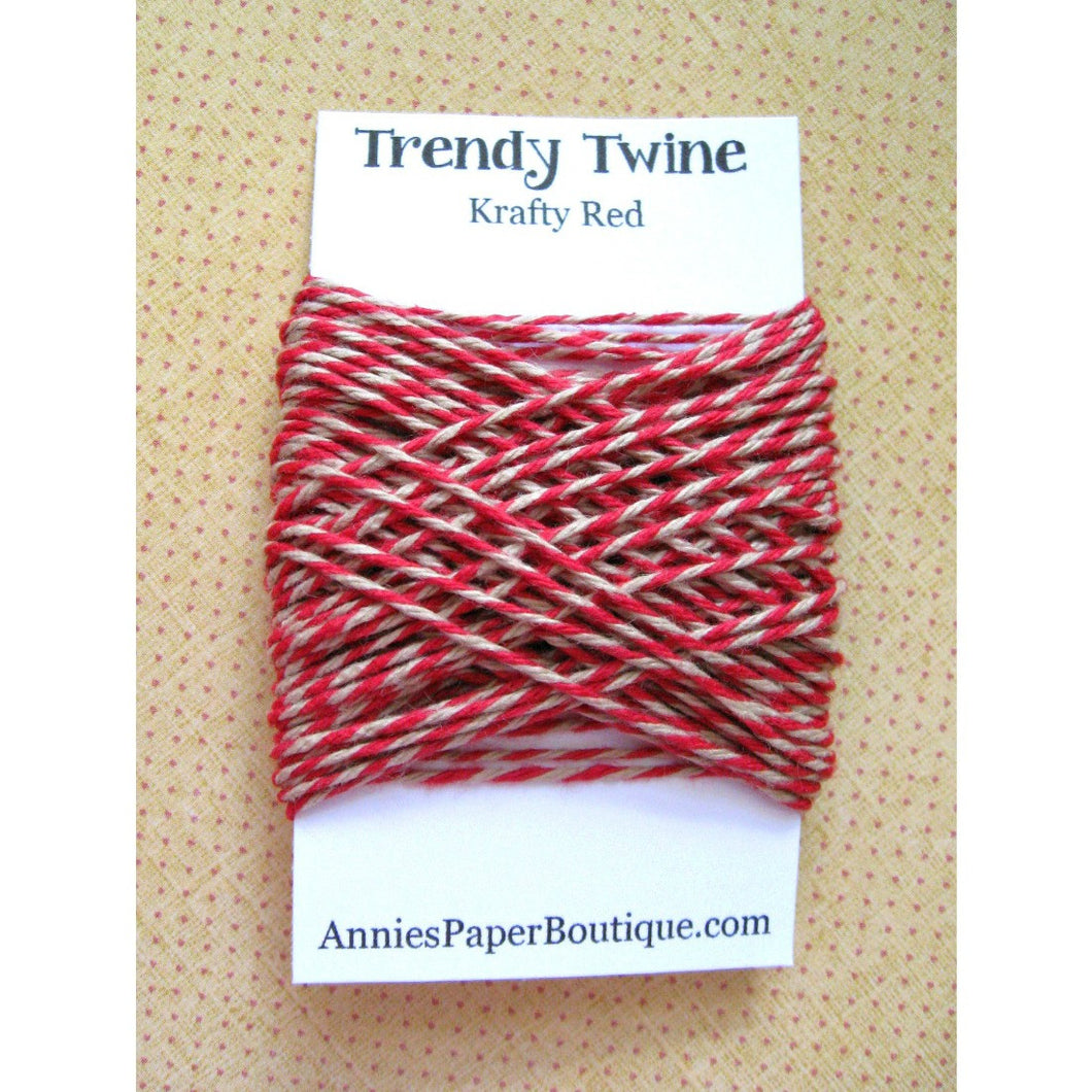 Krafty Red Trendy Bakers Twine Mini - Red & Kraft Brown, Tan