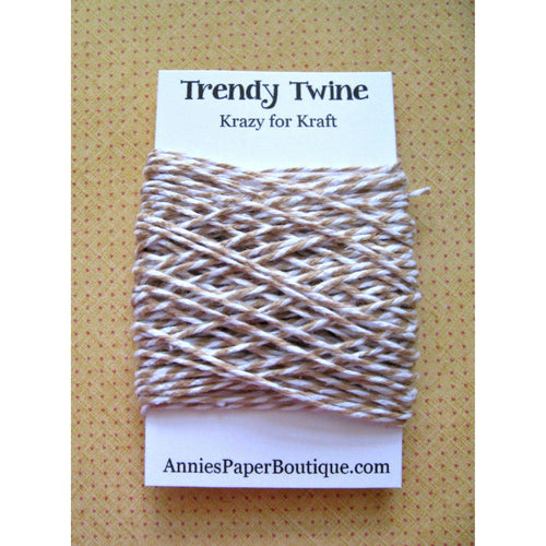 Krazy for Kraft Trendy Bakers Twine Mini - Tan and White