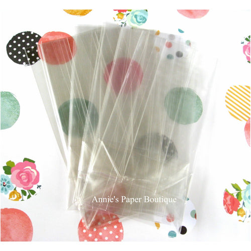 Clear Gusset Bags 3 inches x 6.5 inches