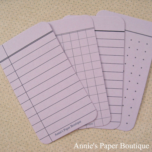 Lavender Purple Journaling Cards