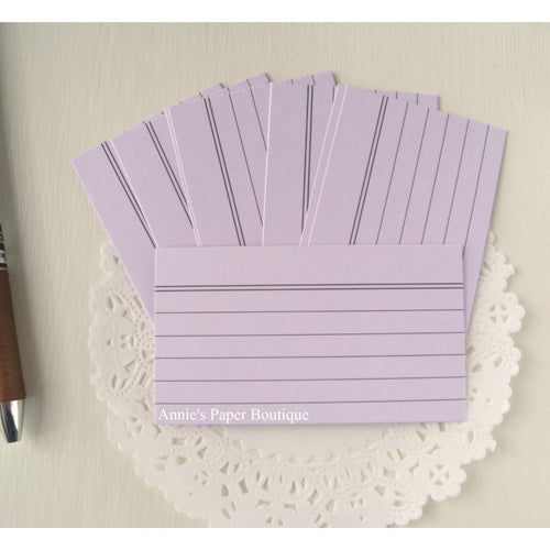 Mini Index Cards - Lavender