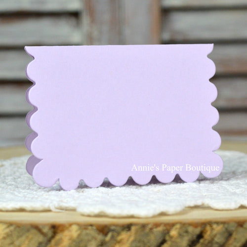 Lavender Scallop Note Cards