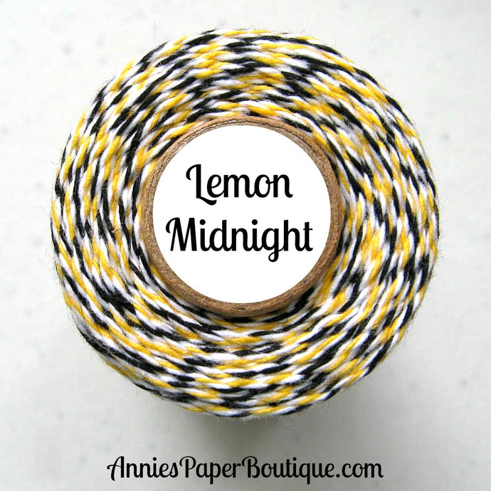Yellow, White, and Black Trendy Bakers Twine