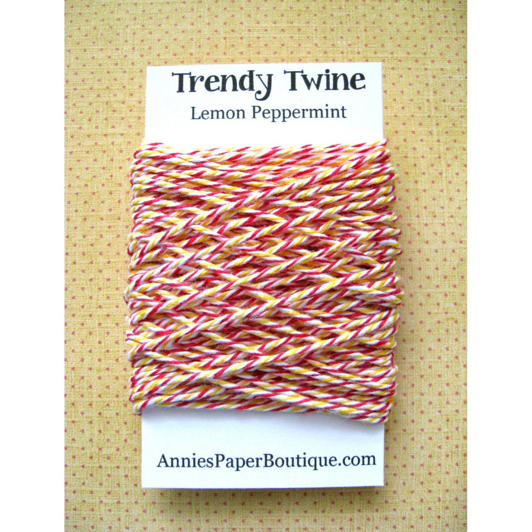 Red, White, and Yellow Trendy Bakers Twine