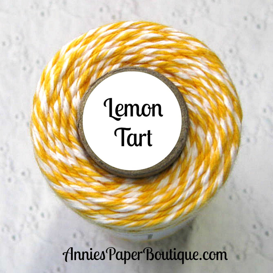 Lemon Tart Trendy Bakers Twine - Yellow & White