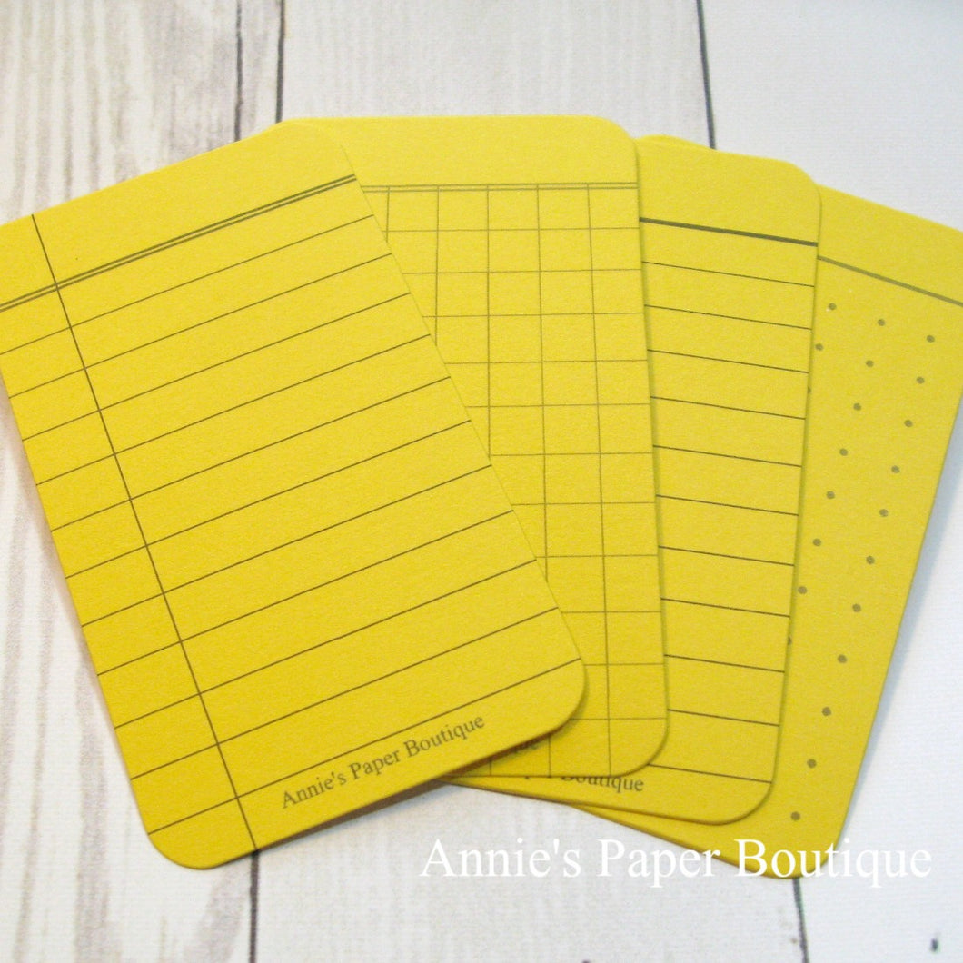 Lemon Yellow Journaling Cards