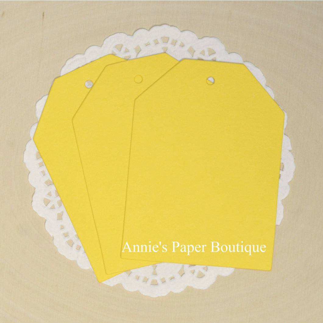 Lemon Yellow Cardstock Hang Tags