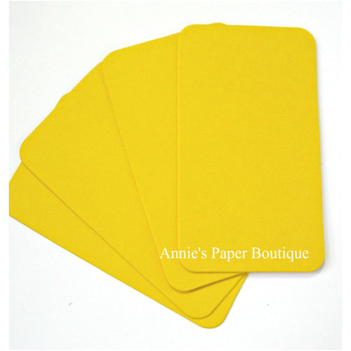 Lemon Yellow Mini Flat Cards