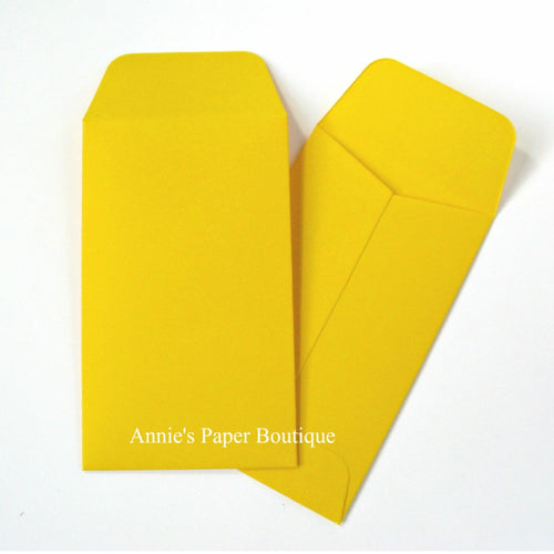 Lemon Yellow Mini Seed Packet Envelopes