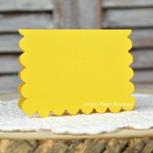 Lemon Yellow Scallop Note Card