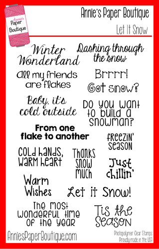 Let It Snow Christmas Clear Stamp Set