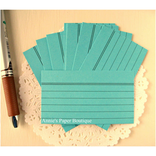 Light Teal Mini Index Cards