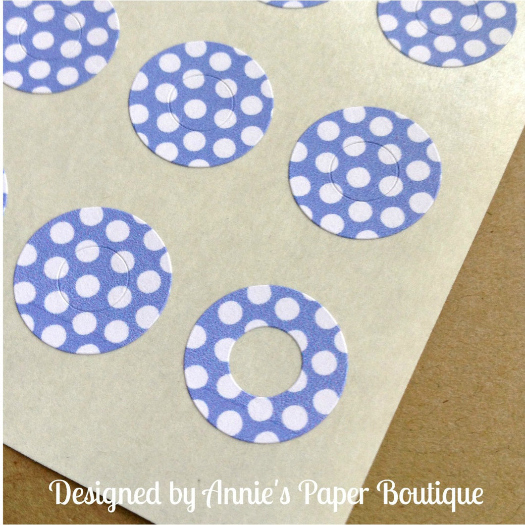 Lilac & White Polka Dots Trendy Page Dots™ - Hole Reinforcers, Planner Stickers