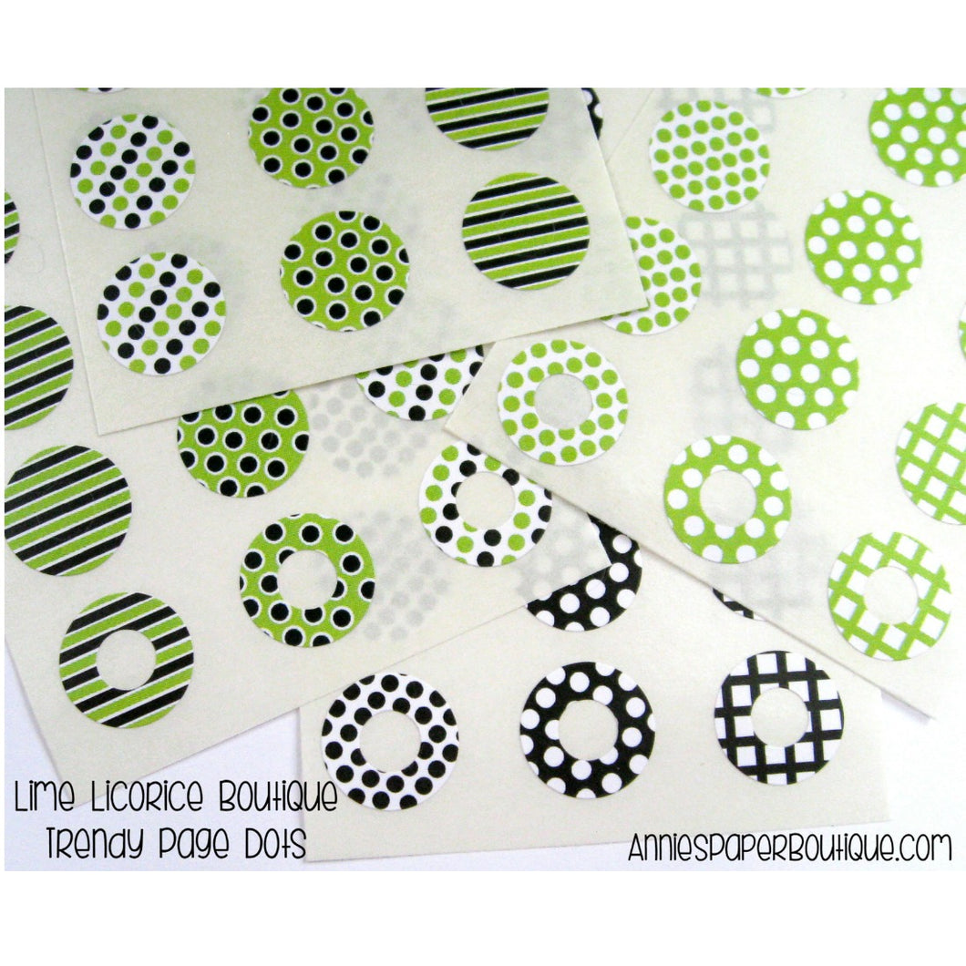 Lime Licorice Trendy Page Dots