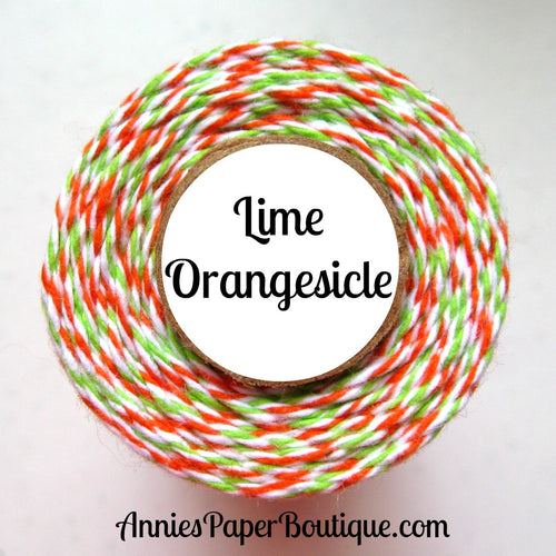 Lime Orangesicle Trendy Bakers Twine - Orange, White, & Lime Green - Halloween
