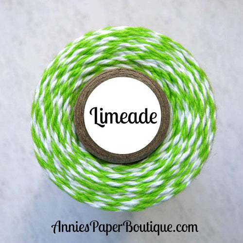 Lime Green and White Trendy Bakers Twine