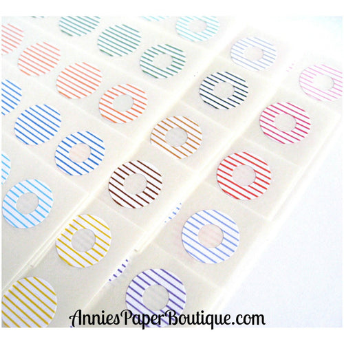 Lined Trendy Page Dots™ - Hole Reinforcers, Planner Stickers