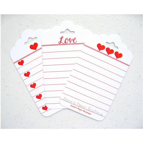 Love and hearts journaling tags