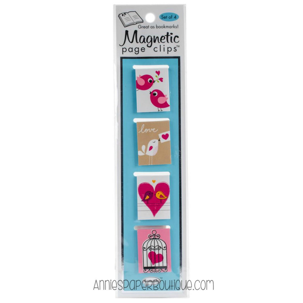 Love Birds Magnetic Page Clips