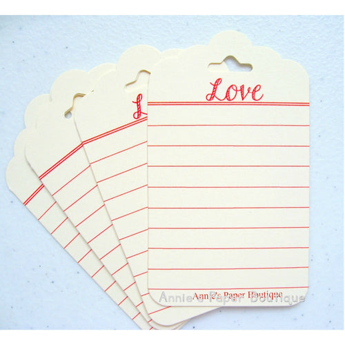 Love Journaling Tags - Cream