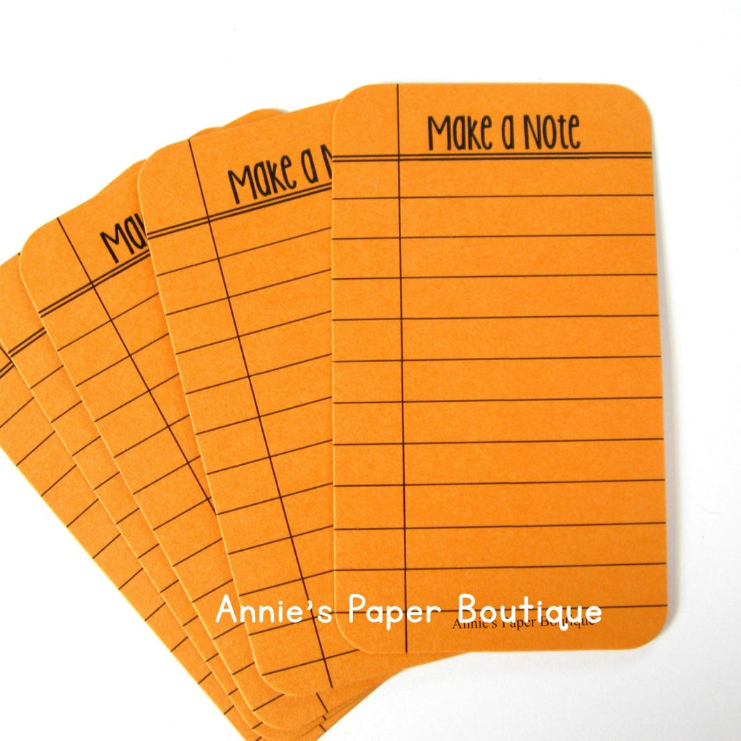 Make a Note Journaling Cards