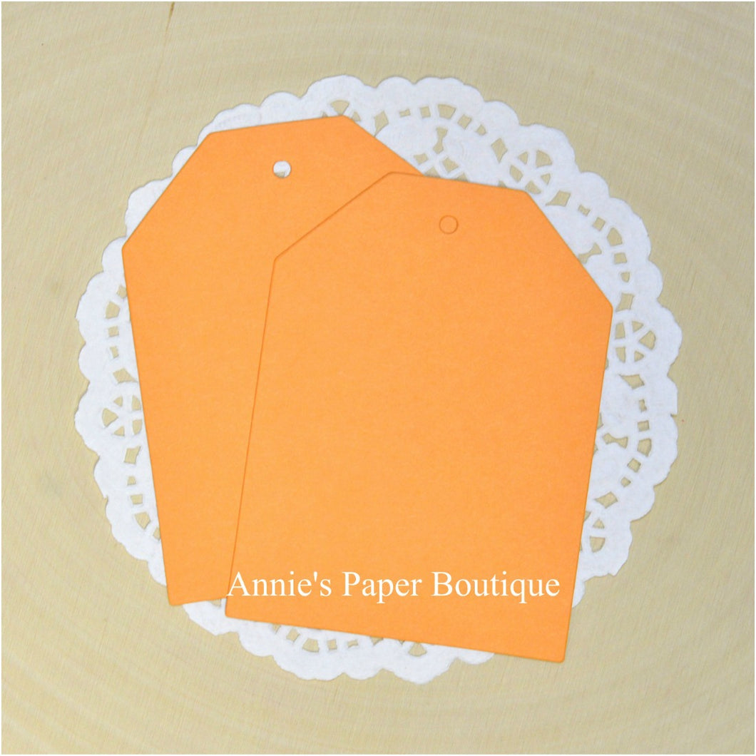 Mango Orange Cardstock Hang Tags
