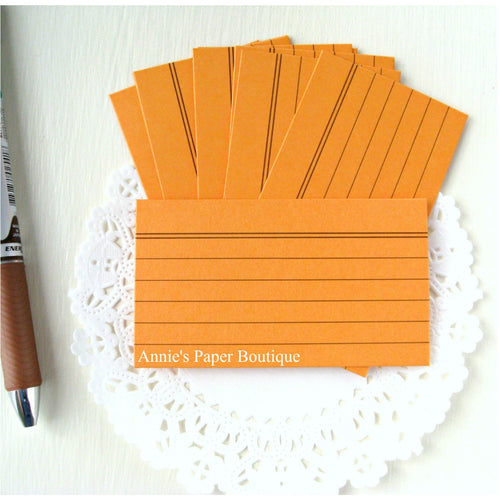 Mini Index Cards - Orange