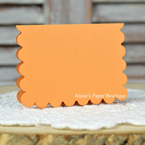 Mango Orange Scallop Note Cards