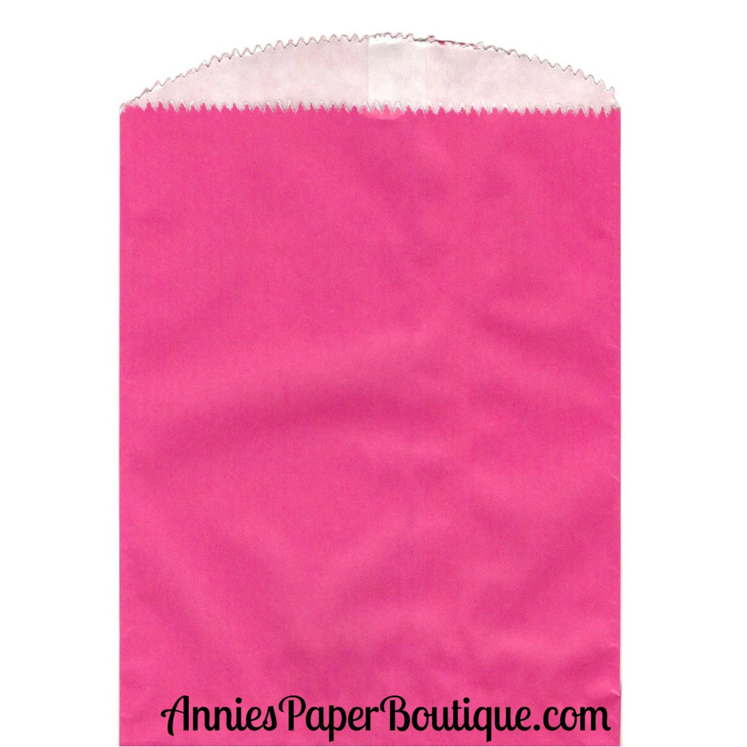 Large Hot Pink Glassine Bags - 5-3/4