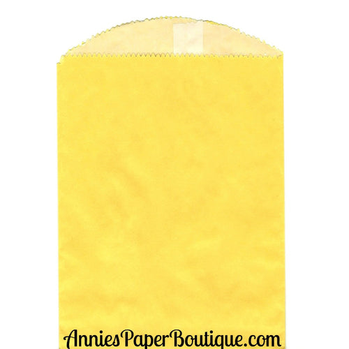 Yellow Glassine Bags - 5-3/4