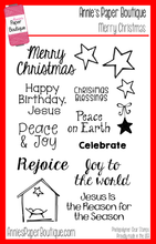 Merry Christmas Stamp Set with Nativity