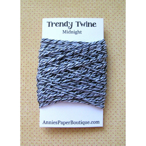 Midnight Trendy Bakers Twine Mini - Black, Gray, and White