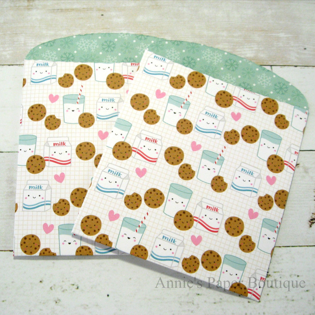 Milk and Cookies Large Paper Pockets