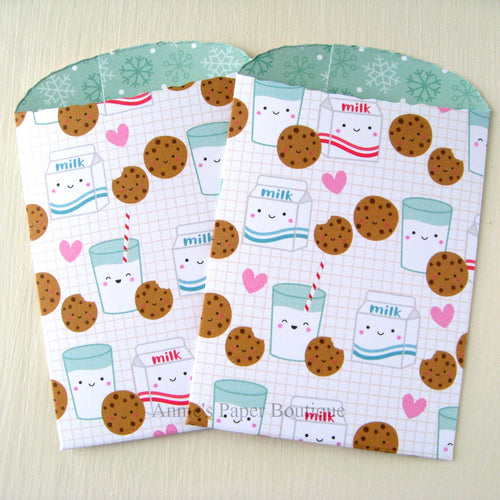 Milk and Cookies Paper Pockets