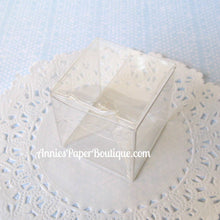 "Mini Candy Cubes - 1-1/2"" x 1-1/2"" Clear Boxes"