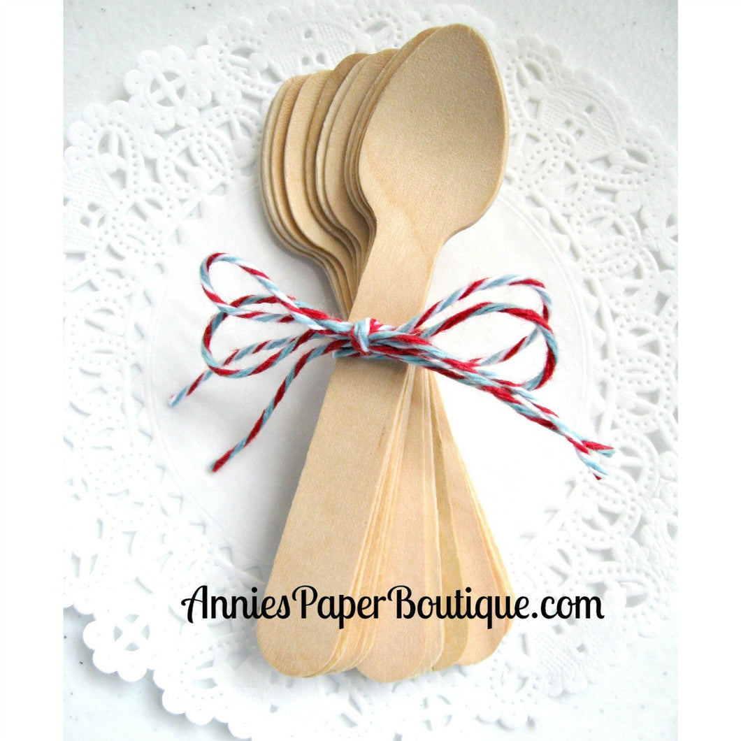 Mini Wooden Spoons - 3-3/4